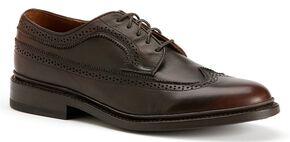 Frye Men's James Wingtip Shoes, Dark Brown, hi-res