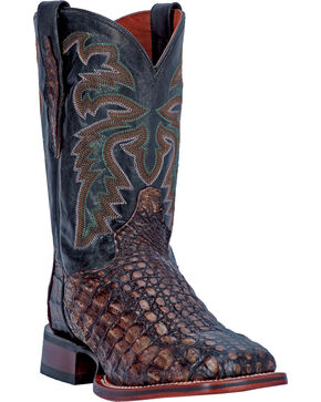 Dan Post Copper Everglades Caiman Cowboy Boots - Square Toe, Copper, hi-res