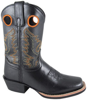 Smoky Mountain Youth Boys' Mesa Western Boots - Square Toe, Black, hi-res