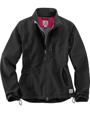 Carhartt Women's Denwood Soft Shell Jacket , Black, hi-res