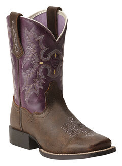Ariat Girls' Tombstone Boots - Square Toe, , hi-res