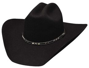 Bullhide High Noon Wool Felt Cowboy Hat, Black, hi-res