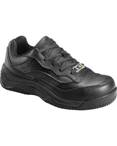 Nautilus Women's Black Ego Slip-Resistant Work Shoes - Composite Toe , , hi-res