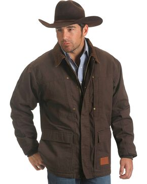 Exclusive Gibson Trading Co. Sherpa Lined Chore Coat, Chocolate, hi-res