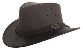 Jacaru Men's Gabba Stonewash Leather Hat, Stonewash, hi-res