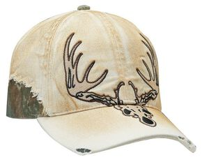 Ariat Men's Tan Deer Skull Ballcap, Tan, hi-res