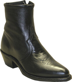 Sage by Abilene Boots Men's Zipper Short Boots, Black, hi-res
