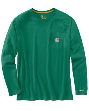 Carhartt Force Long Sleeve Work Shirt, Green, hi-res