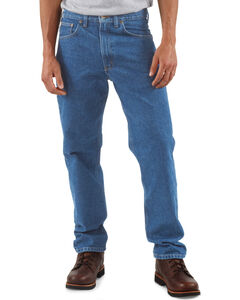 Carhartt Traditional Fit Five Pocket Tapered Leg Work Jeans, , hi-res