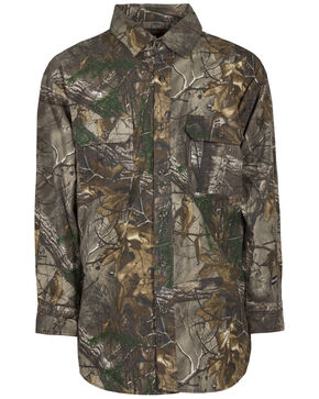 Berne Stalker Camo Button Down Shirt - 3XL and 4XL, Camouflage, hi-res