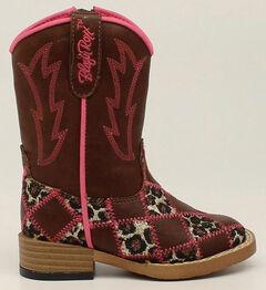 Blazin Roxx Toddler Girls' Zip Miley Patchwork Boots - Square Toe, , hi-res