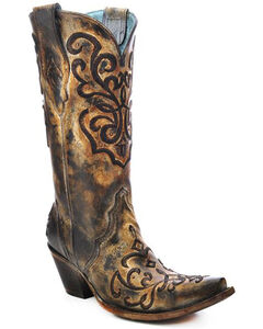 Corral Women's Cord Stitch Cowgirl Boots - Snip Toe, , hi-res
