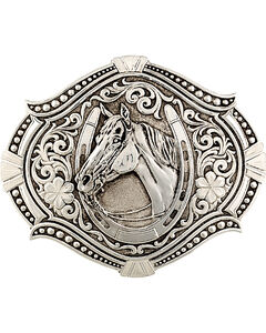 Montana Silversmiths Men's Antiqued Derby Winner Buckle, , hi-res