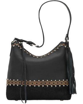 American West Women's Wild Horses Shoulder Handbag , Black, hi-res