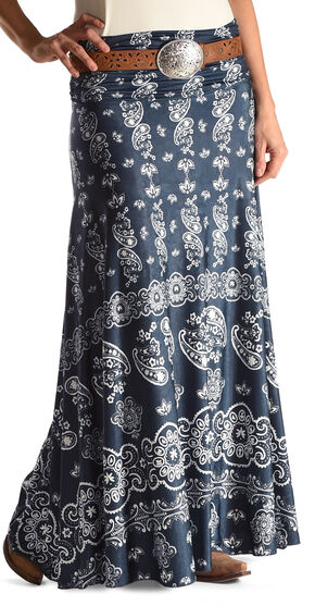 Tasha Polizzi Women's Blue Bandana Skirt , Blue, hi-res