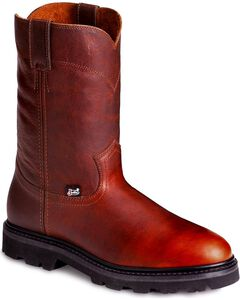 Justin Premium Pull-On Work Boots - Round Toe, , hi-res