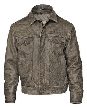STS Ranchwear Men's Maverick Rustic Black Leather Jacket, Black, hi-res