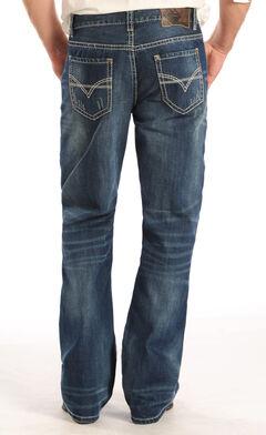 """Rock and Roll Cowboy Double Barrel """"V"""" Stitch Jeans - Boot Cut , , hi-res"""