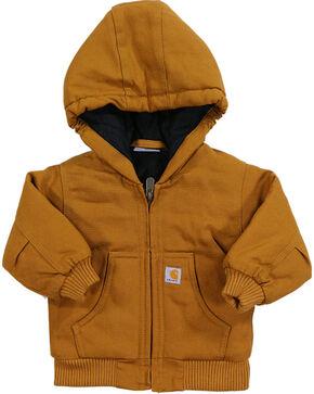 Carhartt Kid's Cotton Duck Active Jacket, Brown, hi-res