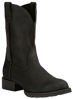 Ariat Black Hybrid Street Side Cowboy Boots - Round Toe , , hi-res