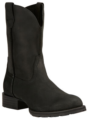 Ariat Black Hybrid Street Side Cowboy Boots - Round Toe , Black, hi-res
