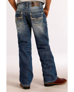 Rock & Roll Cowboy Boys' Heavy Embroidery Jeans - Boot Cut , Blue, hi-res