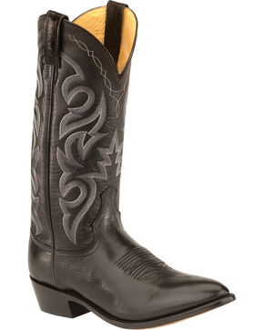 Dan Post Smooth Leather Boots, Black, hi-res