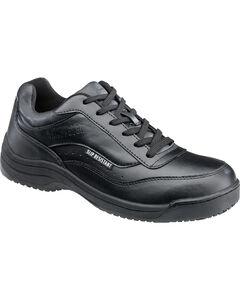 SkidBuster Men's Black Slip-Resistant Athletic Work Shoes , , hi-res