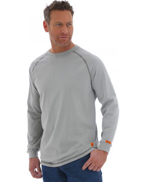 Wrangler 20X Flame Resistant Long Sleeve Crew Pullover, Grey, hi-res