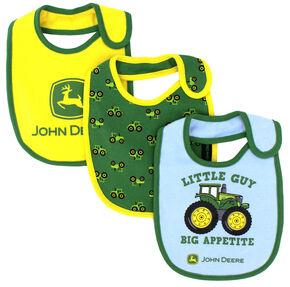 John Deere Infant Boys' 3-Piece Bib Set , Light Blue, hi-res