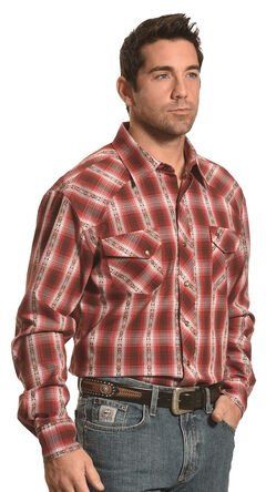Garth Brooks Sevens by Cinch Dobby Plaid Western Shirt , , hi-res
