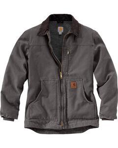 Carhartt Men's Grey Sandstone Ridge Coat - Tall , , hi-res