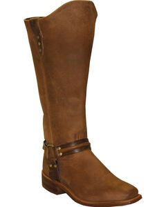 Abilene Women's Brown Equestrian Wellington Boots - Square Toe  , , hi-res
