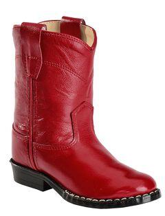 Old West Toddler Boys' Roper Cowboy Boots - Round Toe, , hi-res