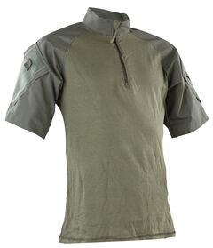 Tru-Spec Men's Olive Nylon / Cotton 1/4 Zip Short Sleeve Combat Shirt, , hi-res
