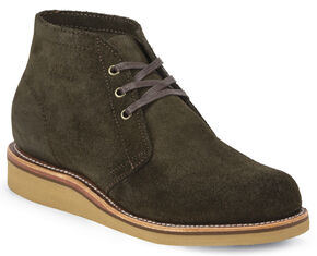 Chippewa Men's Modern Suburban Chocolate Moss Suede Shoes, Chocolate, hi-res