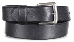 American Worker Men's Black Distressed Leather Belt, , hi-res