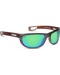 Hobie Men's Sea Green and Brown Wood Grain Cruz-R Polarized Sunglasses , , hi-res