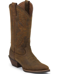 Justin Silver Collection Sorrel Apache Cowgirl Boots - Round Toe , , hi-res