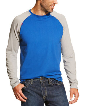 Ariat Men' Navy FR Baseball Tee, Navy, hi-res