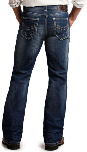 Rock and Roll Cowboy Double Barrel Relaxed Fit Dark Wash Jeans - Boot Cut, Denim, hi-res