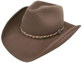 Stetson Rawhide 3X Buffalo Felt Hat, Mink, hi-res