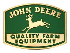 Montana Silversmiths John Deere Quality Farm Equipment Logo Attitude Belt Buckle, , hi-res