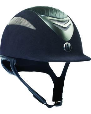One K Defender Suede & Leather Helmet, Black, hi-res