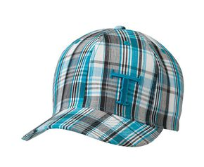 Twister Youth Blue Plaid Cap, Blue, hi-res