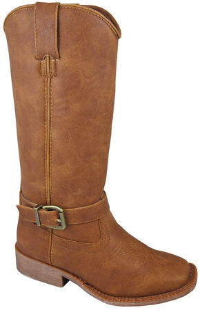 Smoky Mountain Youth Girls' Buttercup Tall Western Boots - Square Toe, Tan, hi-res