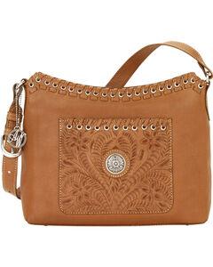 American West Golden Tan Harvest Moon Shoulder Bag, , hi-res
