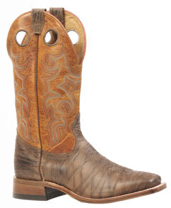 Boulet Rio Brown Delantero Piel Cowboy Boots - Square Toe, , hi-res