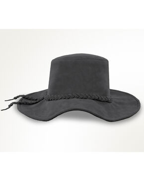 Minnetonka Moccasins Grey Parker Floppy Hat , Grey, hi-res