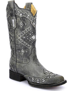 Corral Women's Glitter Cowgirl Boots - Square Toe, , hi-res